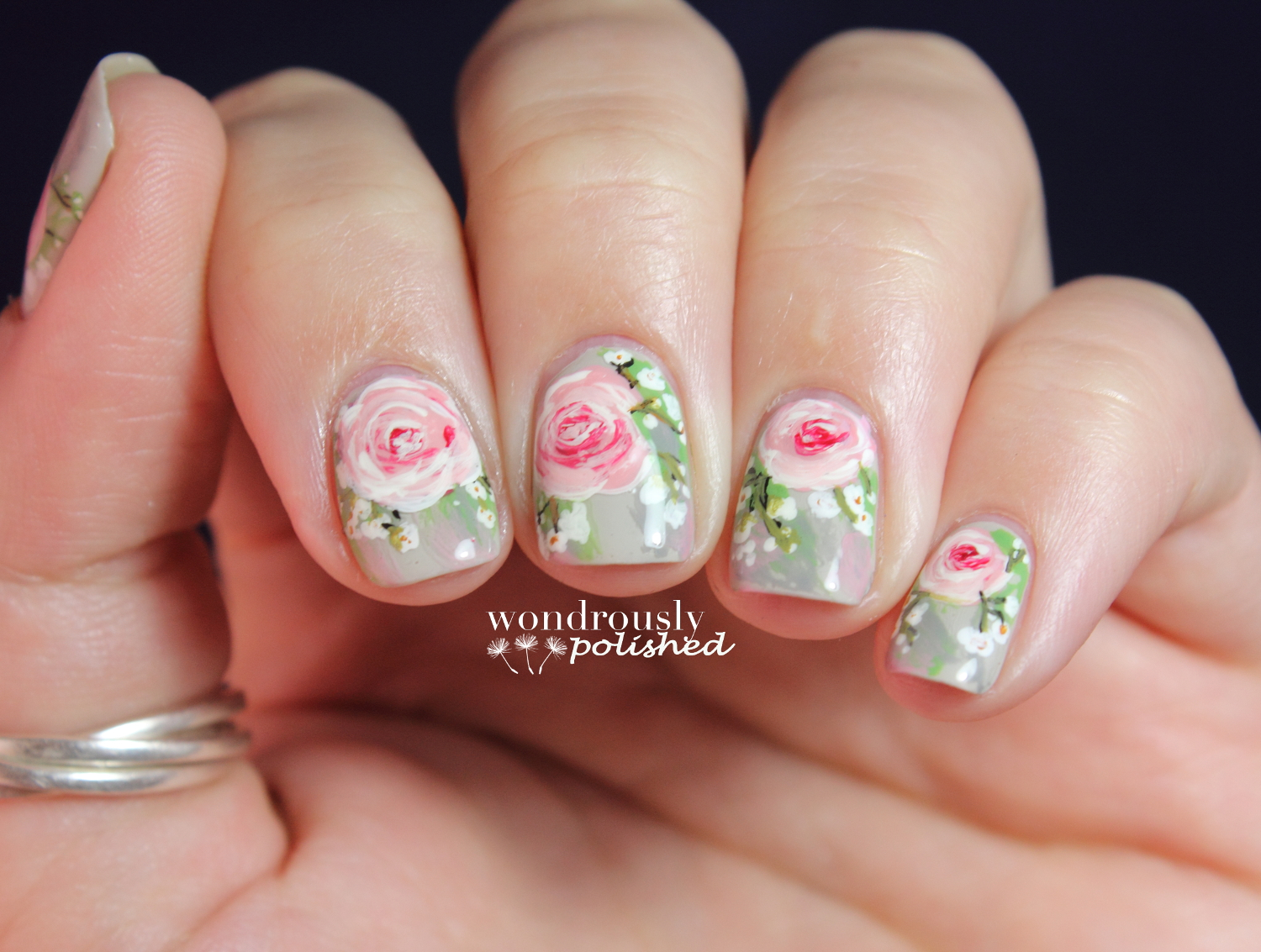 Wondrously Polished: 31 Day Nail Art Challenge - Day 15: Delicate Print