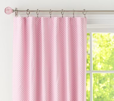 polka dot curtains.