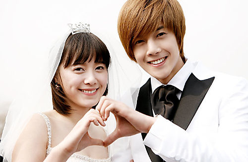 kim hyun joong with goo hye sun boys before flowers