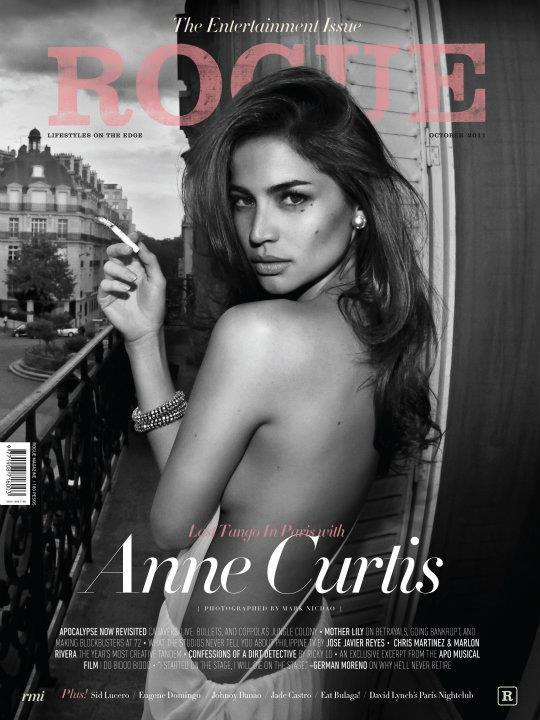... Anne Curtis, made the same deed by posing half-nude holding a cigarette ...