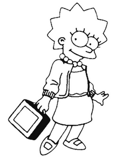 Coloring online online coloring pages lisa simpsons to draw paint