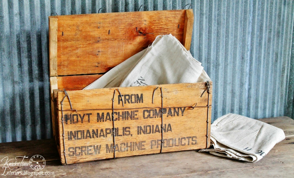 Vintage Wooden Shipping Crate