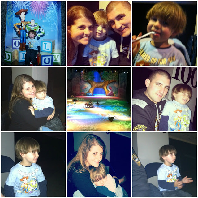 disney on ice toddler boy family