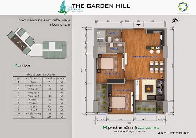 căn a4,5,6 chung cư the garden hill