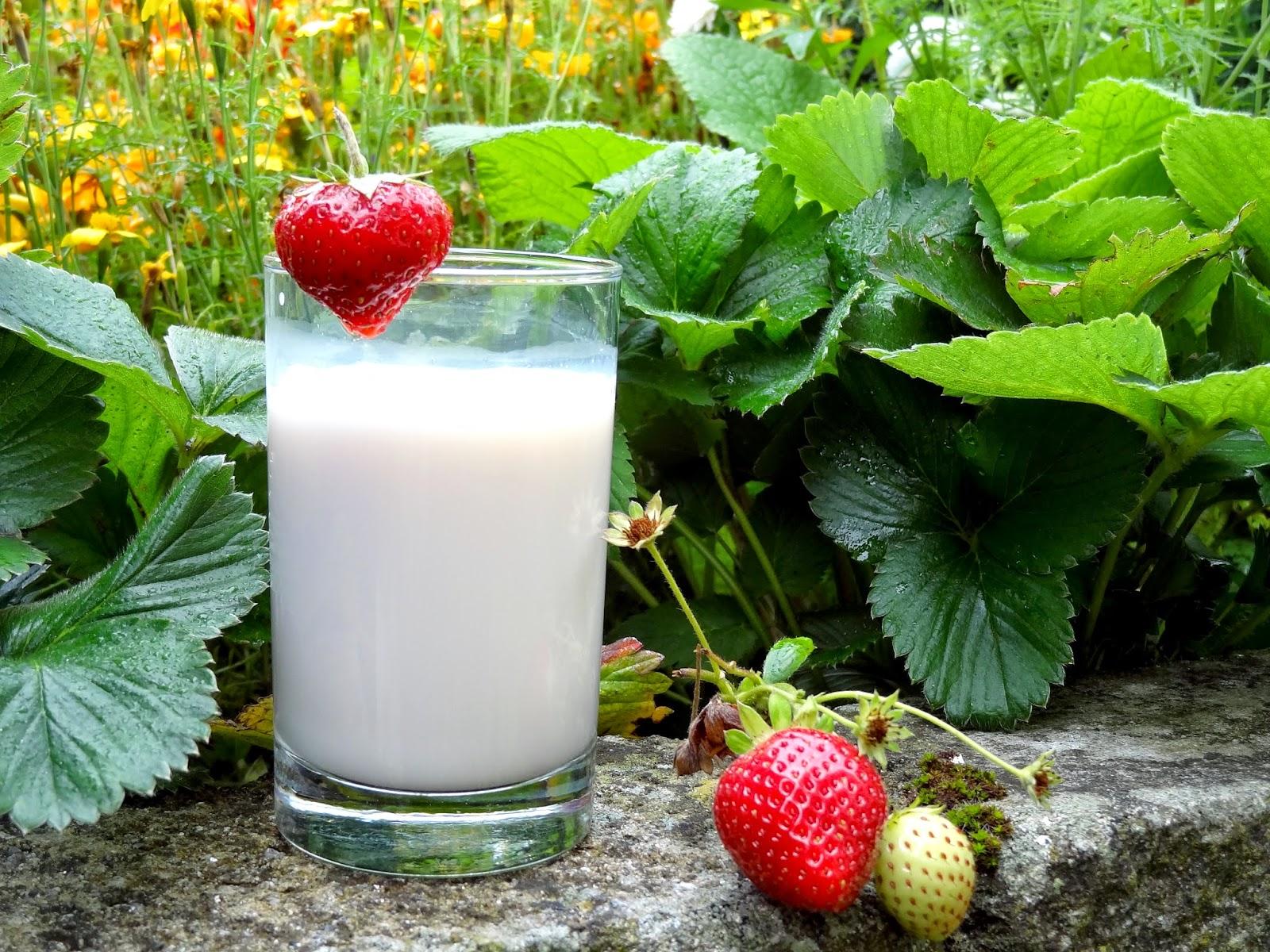 Blue Diamond Almond Breeze Milk w/ Strawberries