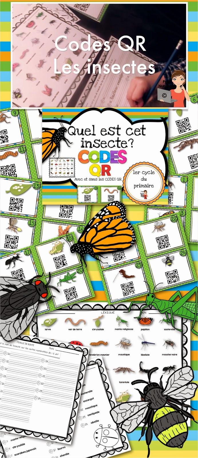 https://www.teacherspayteachers.com/Product/FRENCHCodes-QR-IPAD-Les-insectes-1223649