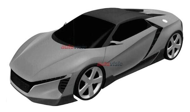 ホンダが謎のスポーツカーのデザインを米国で特許登録