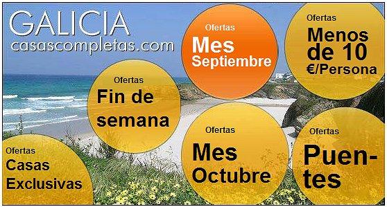 Casas completas galicia alquiler de vacaciones ofertas fin de verano en galicia - Casas rurales galicia ofertas ...
