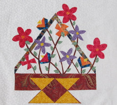 Flower Basket Applique Quilt Pattern