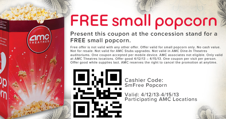 Amc coupons popcorn 2018