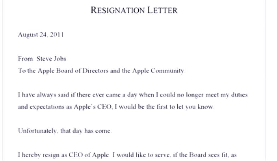 Resigned ...