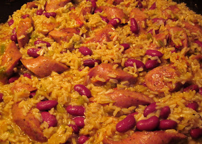 skillet red beans, rice & sausage recipe