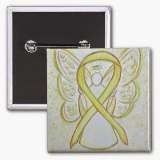 Yellow Awareness Ribbon Angel Picture Image