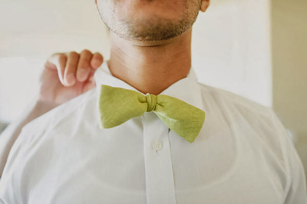green bow tie, bow tie