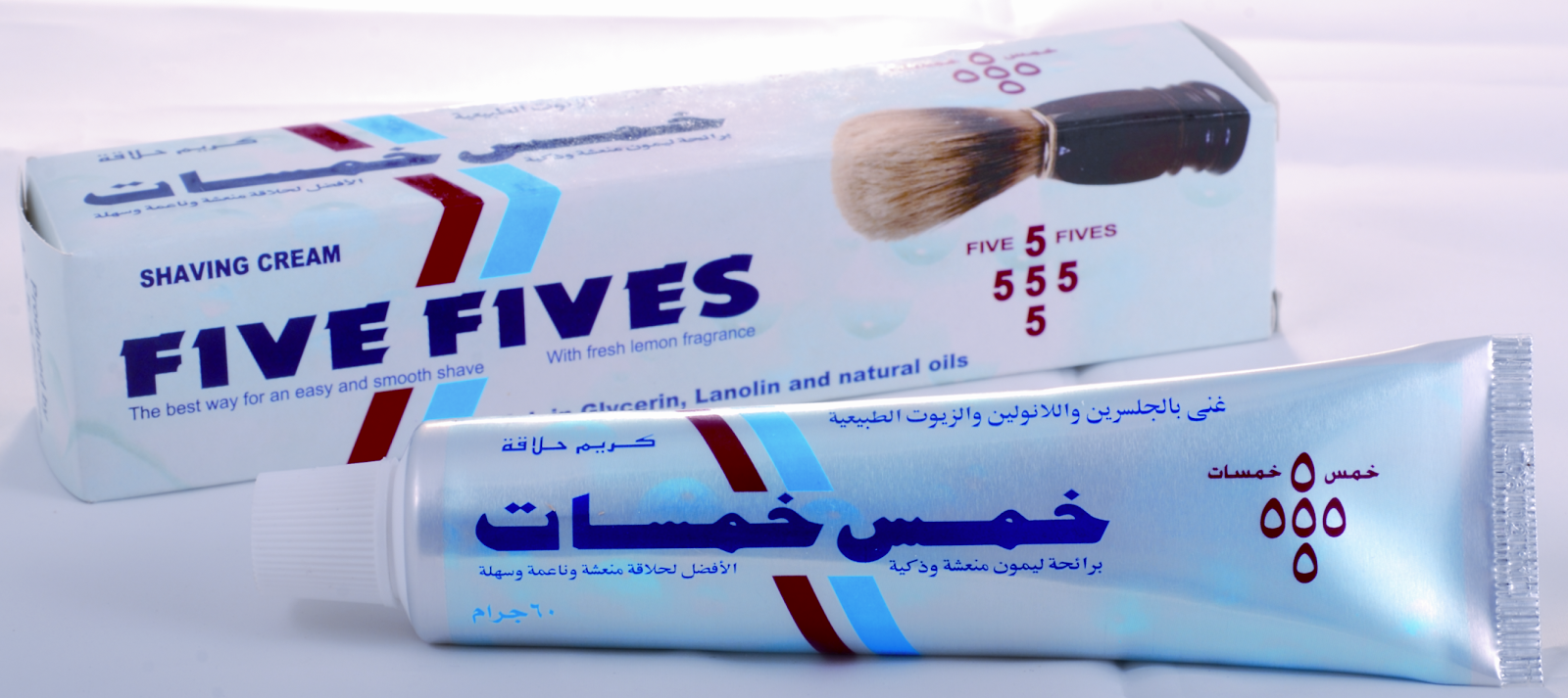 "Crème à raser ""Five fives"" Five+Fives+Shaving+Cream+Lemon"
