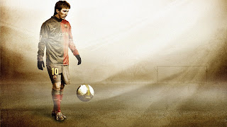 Messi Western Cool Design HD Wallpaper