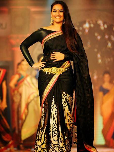 Sonakshi Sinha in Beautiful Black Designer Saree