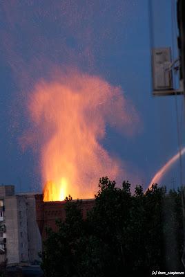 Moara lui Assan incendiu fire feuer
