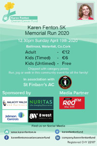 Charity 5k in Ballinora nr Ballincollig - Sun 19th Apr 2020