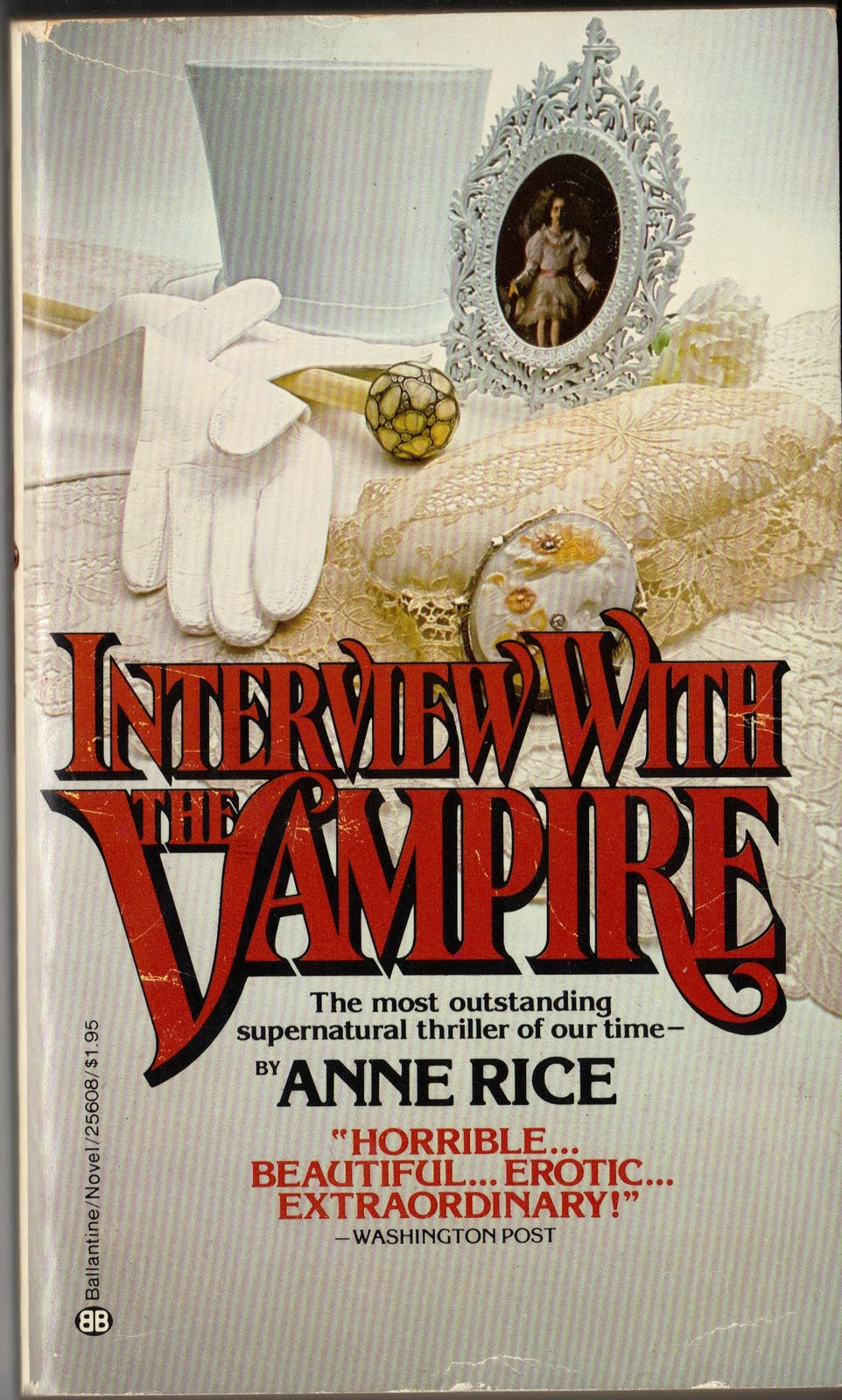 Interview with the Vampire by Anne Rice  1976   Ballantine First    Interview With A Vampire Book Cover