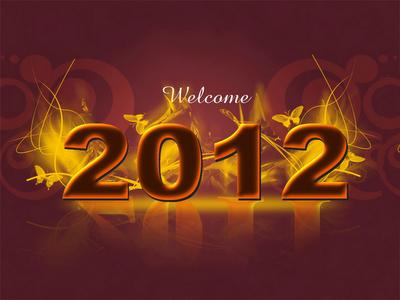 wallpaper tahun baru 2012
