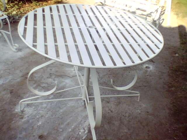 Ideas en hierro forjado juego de sillas de jardin - Pletinas de hierro ...