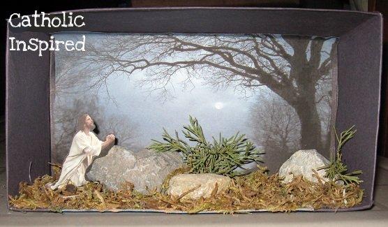 Agony in the Garden Craft  Diorama  Catholic Inspired