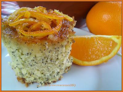 Bizcocho de Semillas de Amapola con Sirope de Naranja