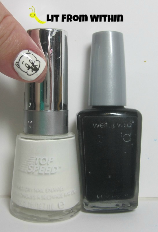Bottle shot:  Revlon Spirit and Wet 'n Wild Black Creme.