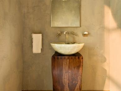 Ba os modernos fotos de decoraci n de interiores for Lavamanos sobrepuesto