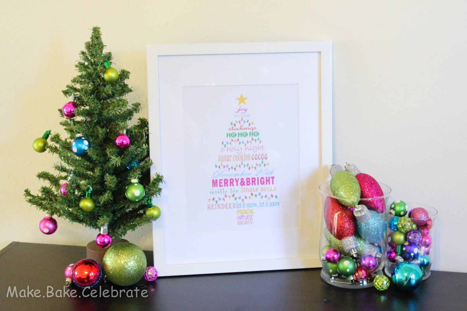 Mbc merry bright christmas tree subway art printable