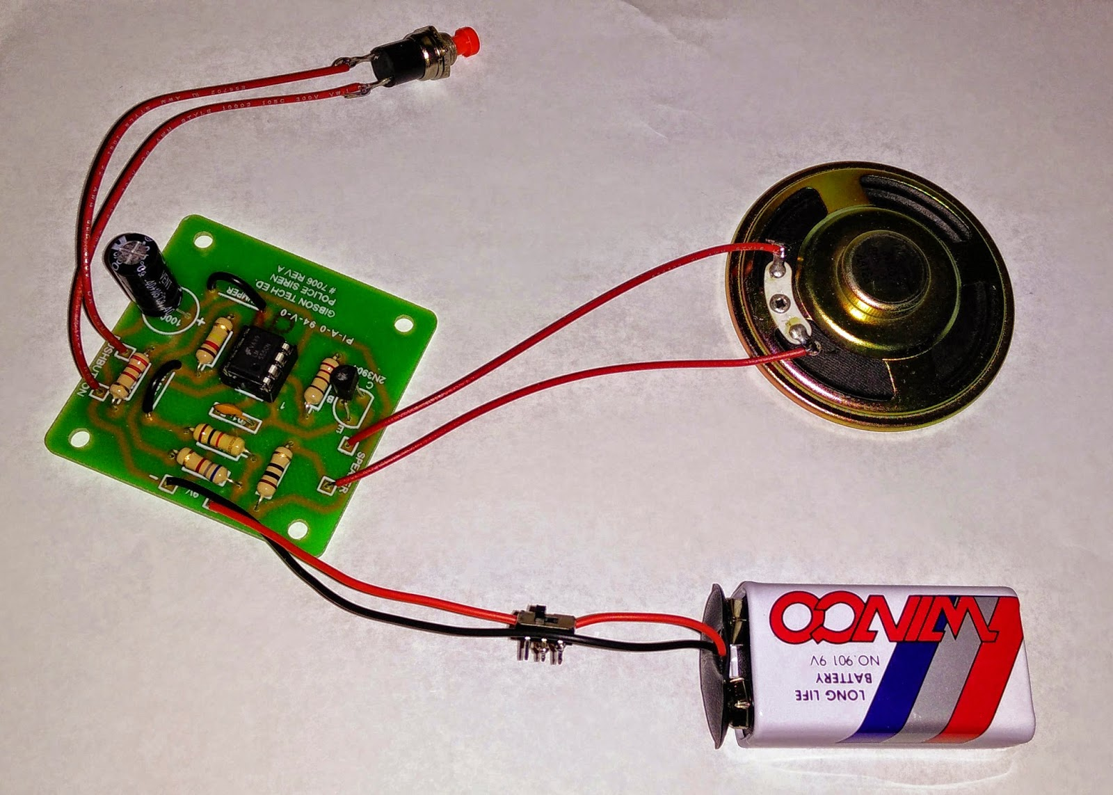 Anites 2015 Police Lights Circuit Electronic Circuits Pinterest The Kit We Put Together Was A Noisy Little Siren Amazingly All Of Boys Were Able To Complete Their Kits Without Frying Any Transistors Or Ic