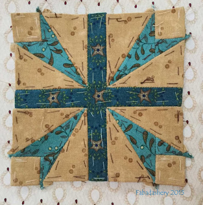 Dear Jane Quilt - Block D12 Crossed Swords