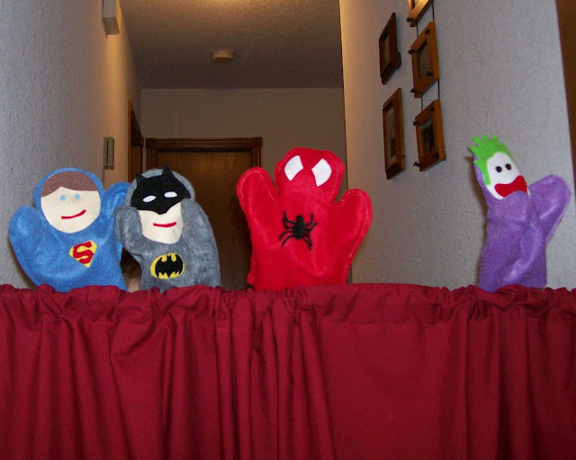 Super Hero Puppets from Serving Pink Lemonade