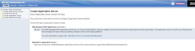 Setup IBM Integrated Web Application Server for i