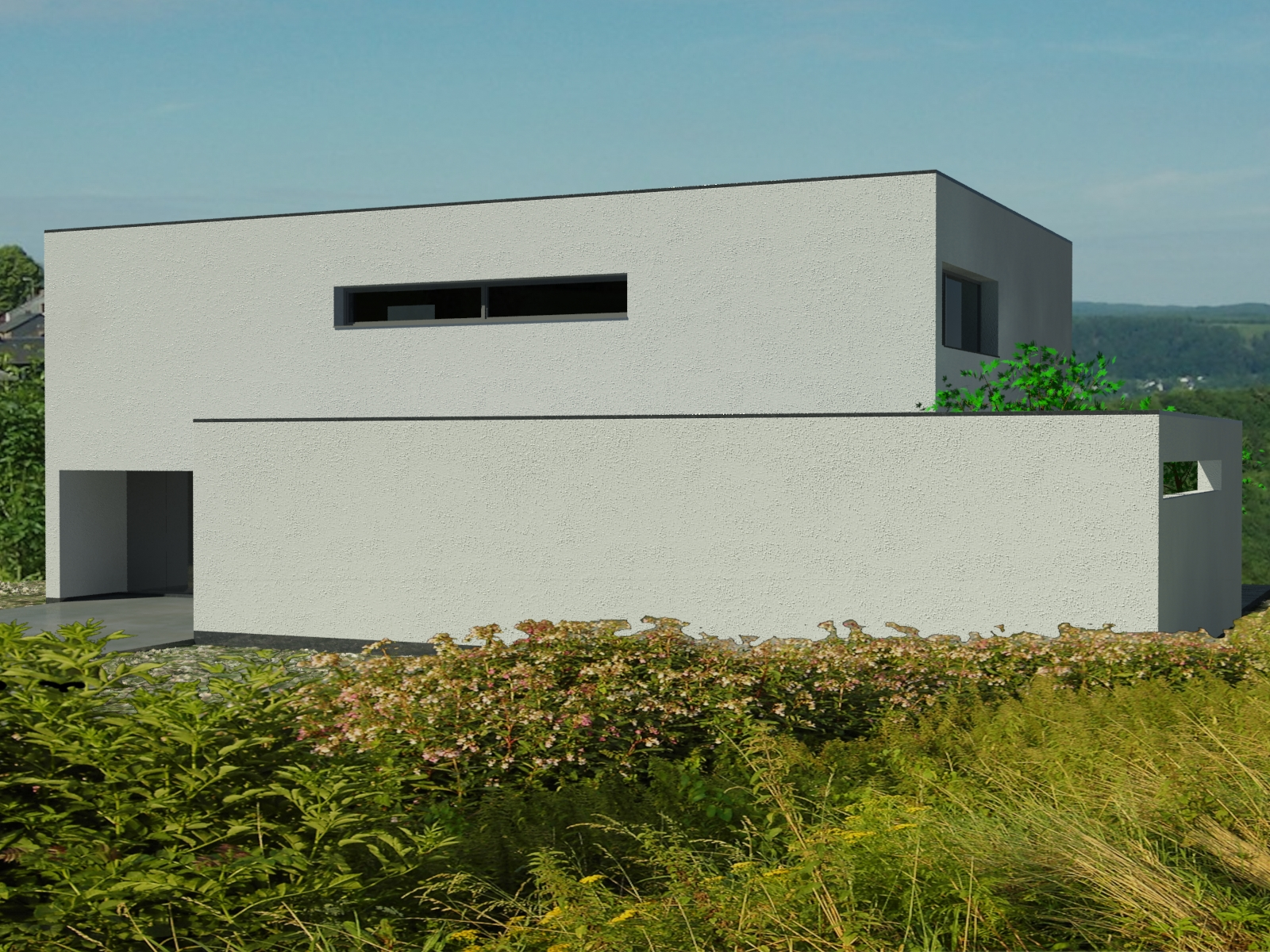 minimalist architect curacao: maison dumoulin nandrin belgique