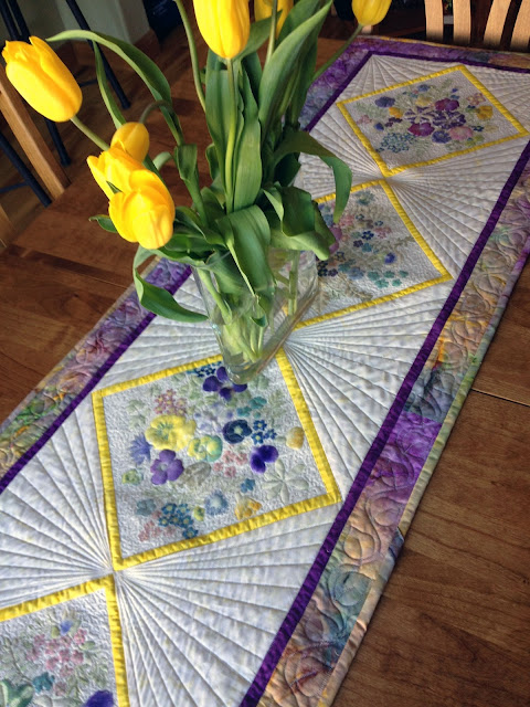 Beautiful Table Runner from Flower Pounding Tutorial