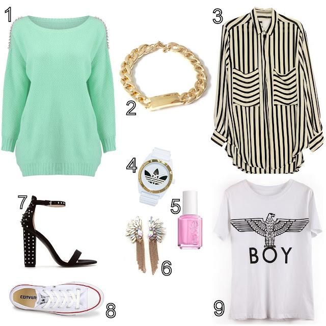 relógio da adidas, sandálias zara, verniz essie, t-shirt boy, brincos, all star, converse