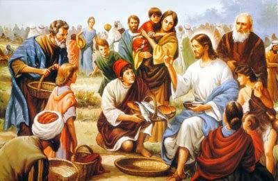 Resultado de imagen de imagenes del milagro de los panes y los peces
