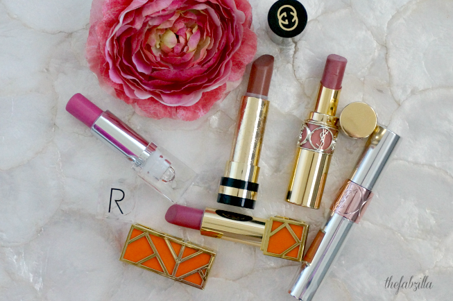 Spring 2015 Beauty Must-Haves, Spring 2015 Beauty Trend, Roses,Makeup, Fragrance, Skincare, Rodial Glamstick Tinted Lip Butter, Tory Burch Just Like Heaven, YSL Rouge Volupte Shine Pink in Confidence, YSL Volupte Tint in Oil I Rose You, Gucci Auadacious Lip Spring Rose