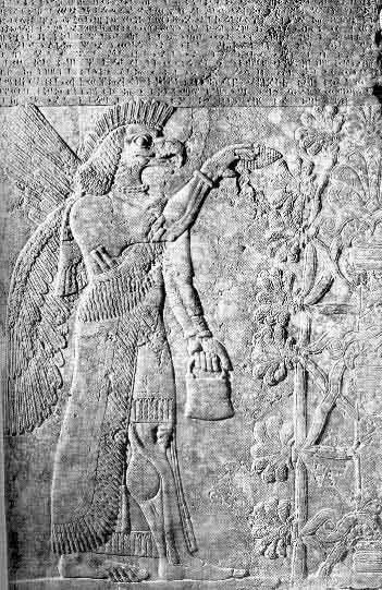 Крылатый бог древних шумеров, барельеф, Месопотамия, Ирак, альтернативная история, пришельцы Аннунаки, НЛО