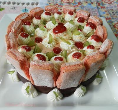 Strawberry Charlotte with Roses de Reims Biscuits for La Fete National ...
