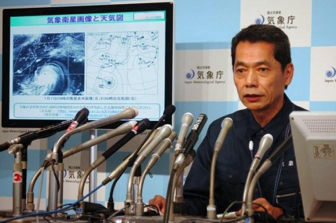JAPON EN ALERTA MAXIMA POR INMINENTE LLEGADA DEL SUPER TIFON NEOGURI, 8 DE JULIO 2014