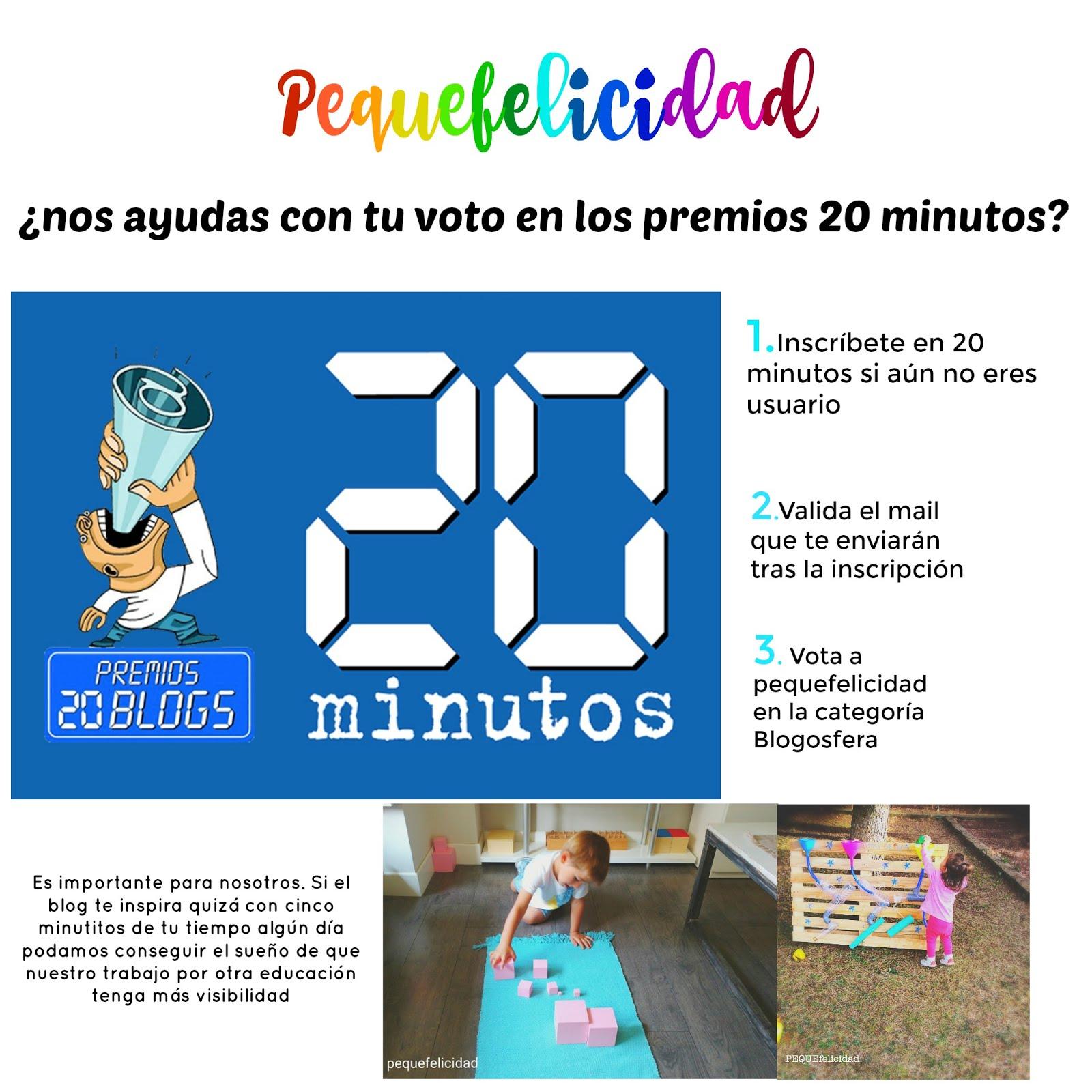 ¿NOS VOTAS EN LOS PREMIOS 20 BLOGS?
