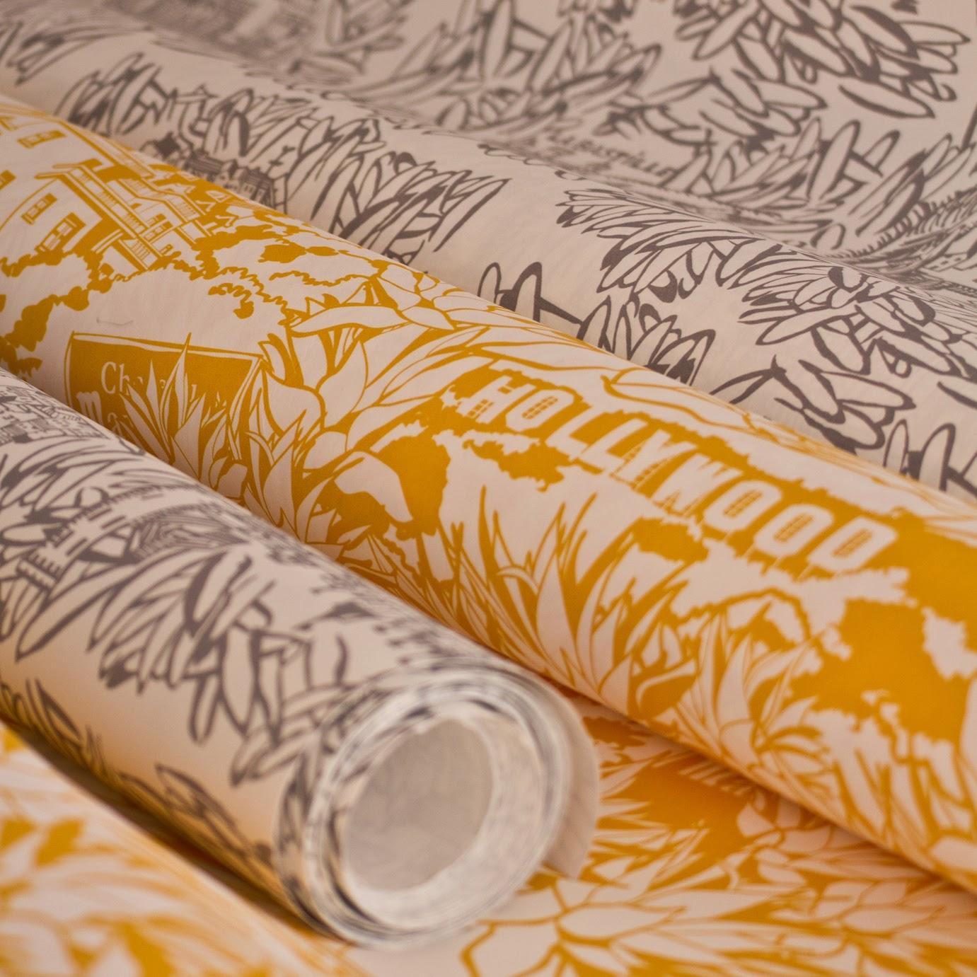 Papier Peint Jaune Orangé - Papier peint duplex Uni jaune orange CASTORAMA