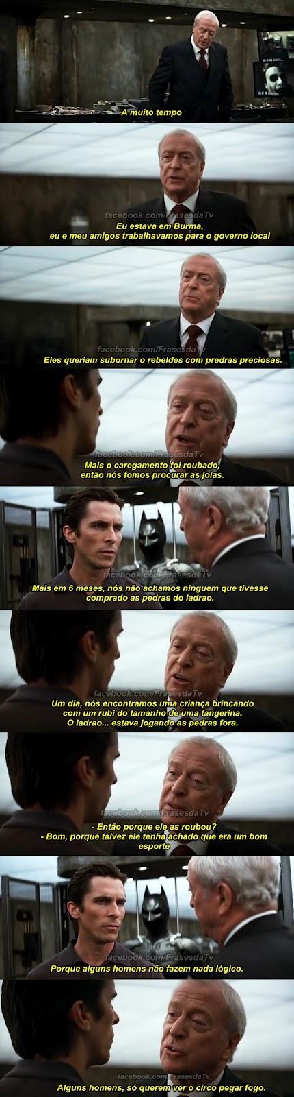 Batman O Cavaleiro Das Trevas Momento épico 1 Frases Da Tv