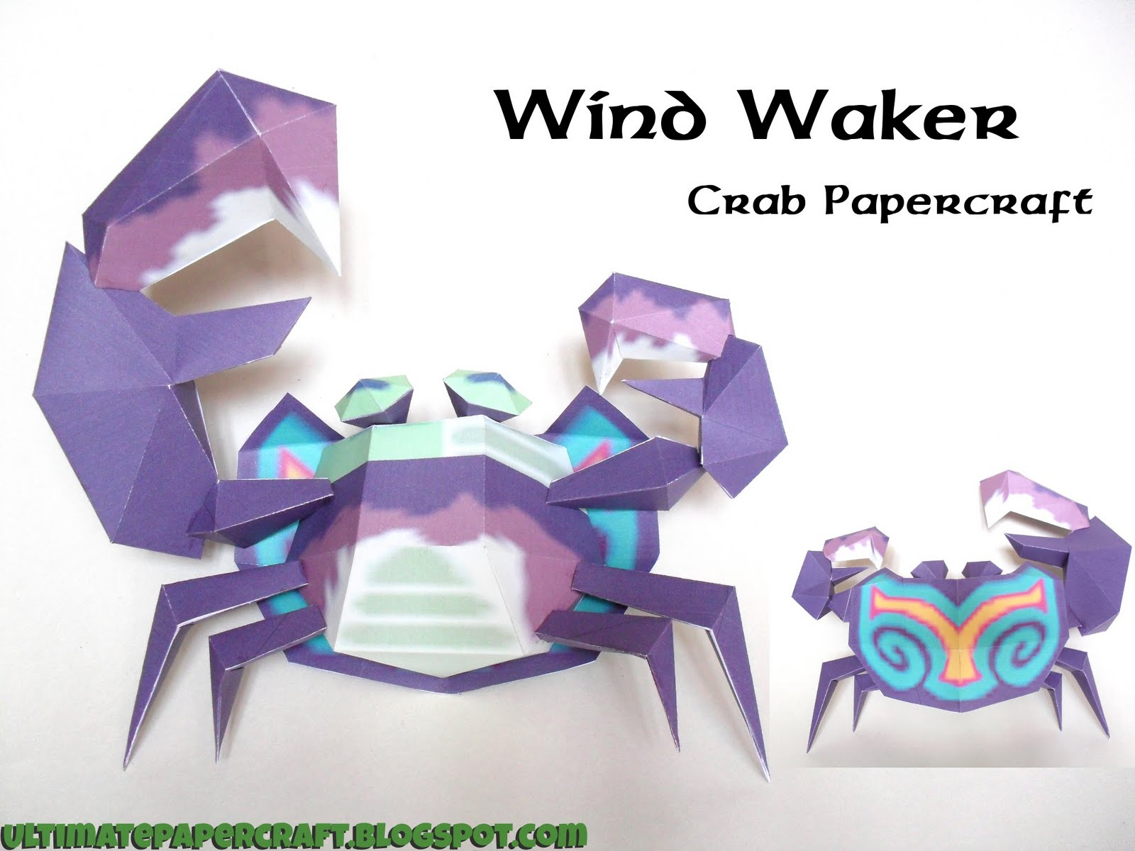 DePapercraftBlog: The Legend of Zelda: The Wind Waker, Crab Papercraft