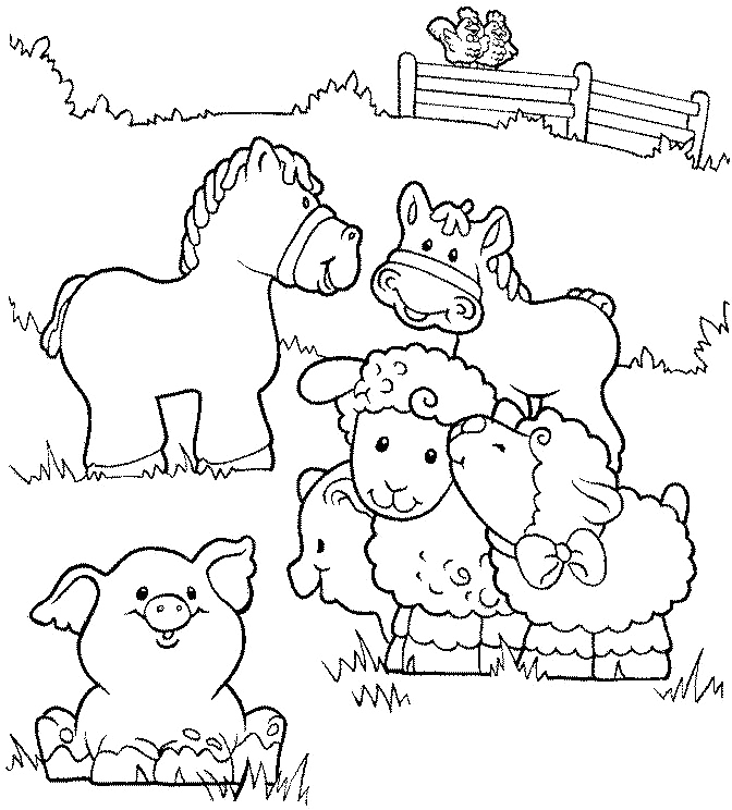 Coloring Pages For Animals Farm Animals For Coloring