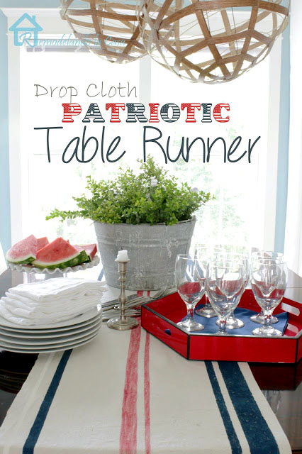 how to make a patriotic table runner