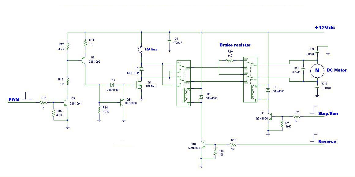 wiring diagram forward reverse on powerwinch solenoid wiring diagramfig circuit pwm dc motor driver with forward reverse and breaking